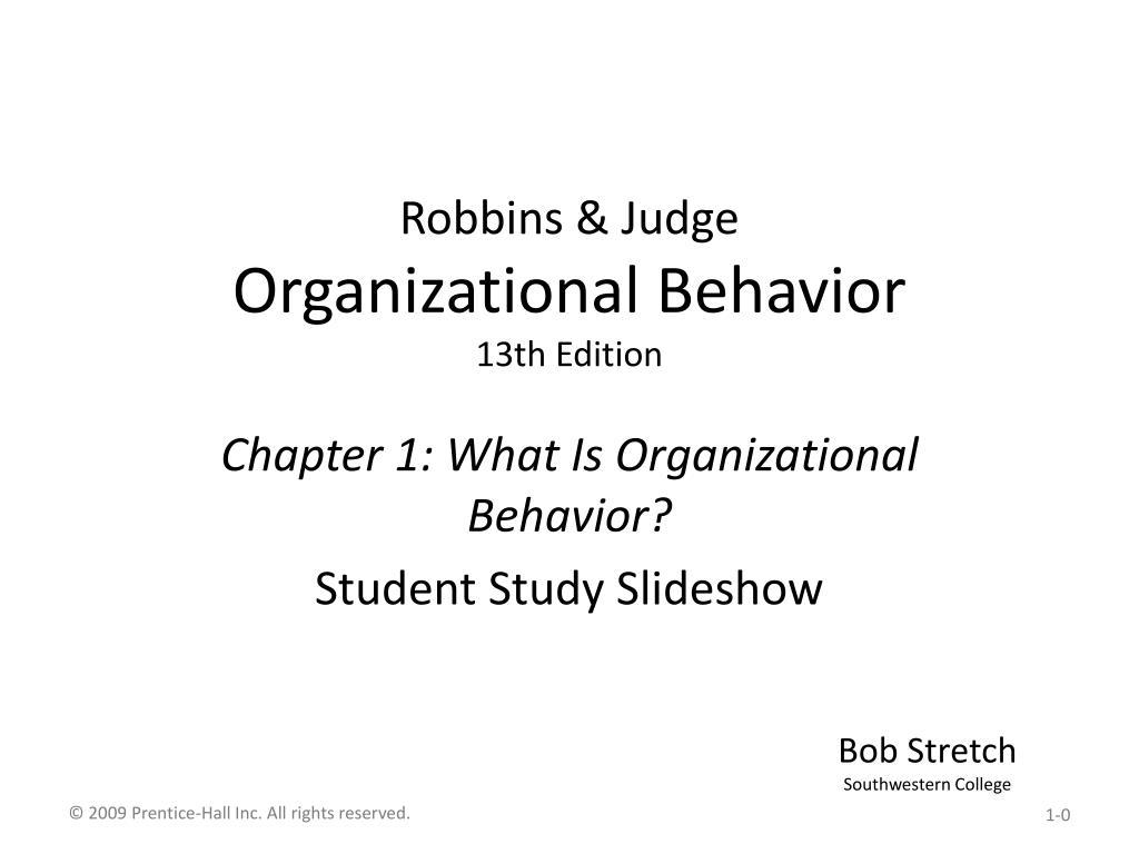 robbins judge organizational behavior 13th edition l.