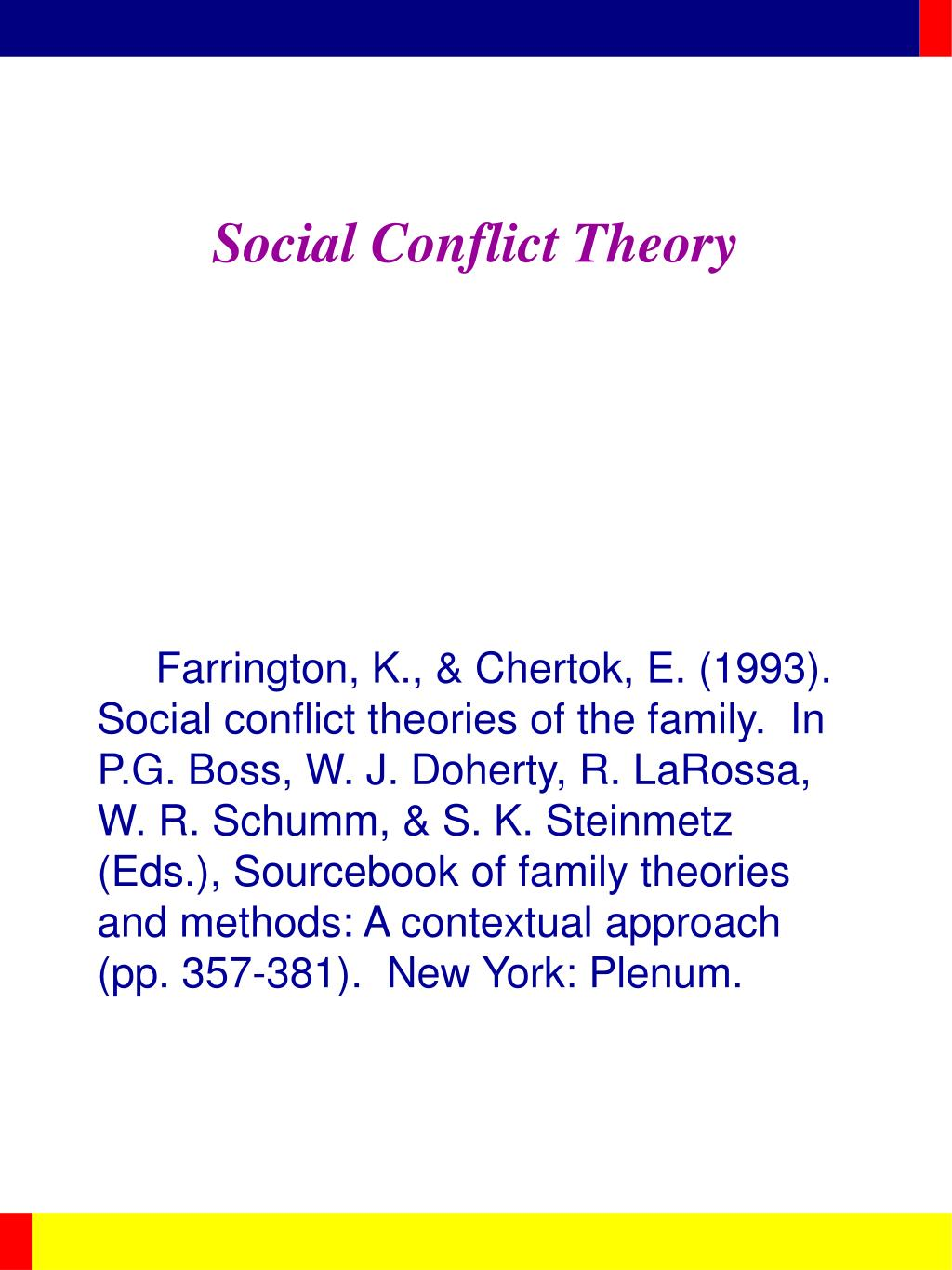 social conflict theory l.