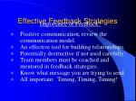 effective feedback strategies50
