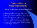 opportunities for coaching mentoring24