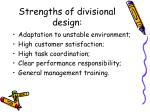 strengths of divisional design