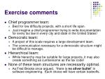 exercise comments