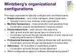 mintzberg s organizational configurations