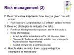 risk management 2