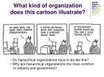 what kind of organization does this cartoon illustrate