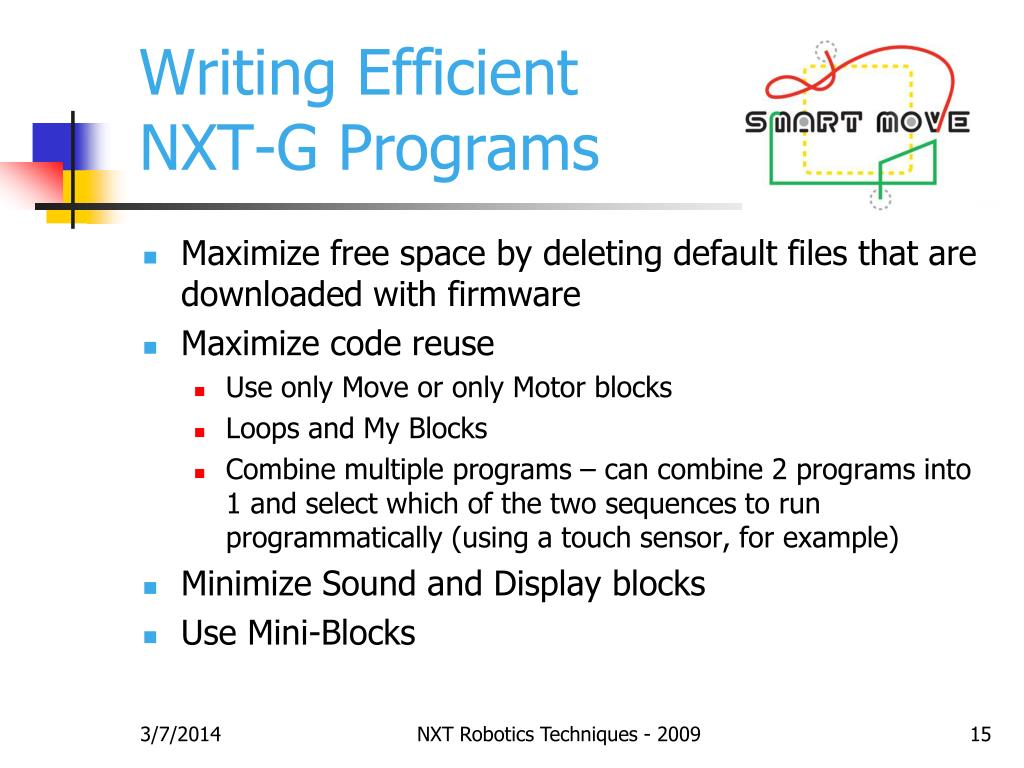 Writing Efficient NXT-G Programs