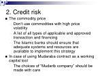 2 credit risk29