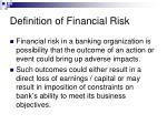 definition of financial risk
