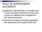 role of supervisory authority