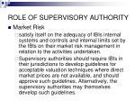 role of supervisory authority63
