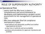 role of supervisory authority67