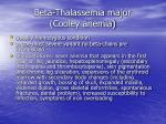 beta thalassemia major cooley anemia