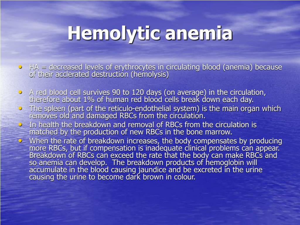 hemolytic anemia l.