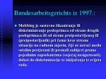 bundesarbeitsgerichts iz 1997