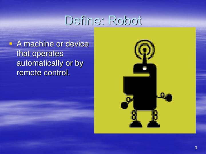Define robot