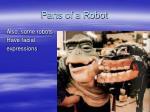 parts of a robot17