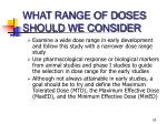 what range of doses should we consider24
