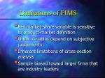 limitations of pims