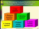 how managing cultural diversity can provide competitive advantage