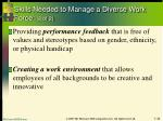 skills needed to manage a diverse work force 2 of 2