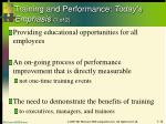 training and performance today s emphasis 1 of 2