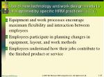 use of new technology and work design needs to be supported by specific hrm practices 2 of 2