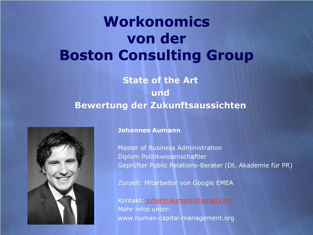 workonomics von der boston consulting group l.