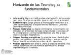 horizonte de las tecnolog as fundamentales