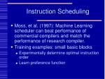 instruction scheduling