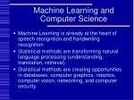 machine learning and computer science63