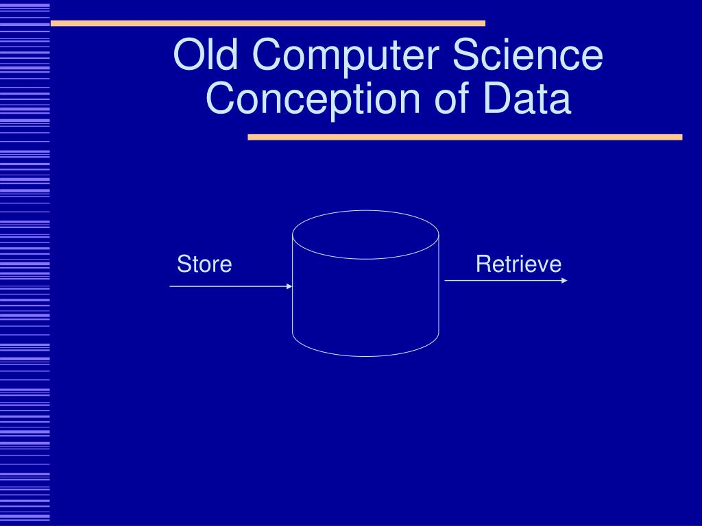 Old Computer Science Conception of Data