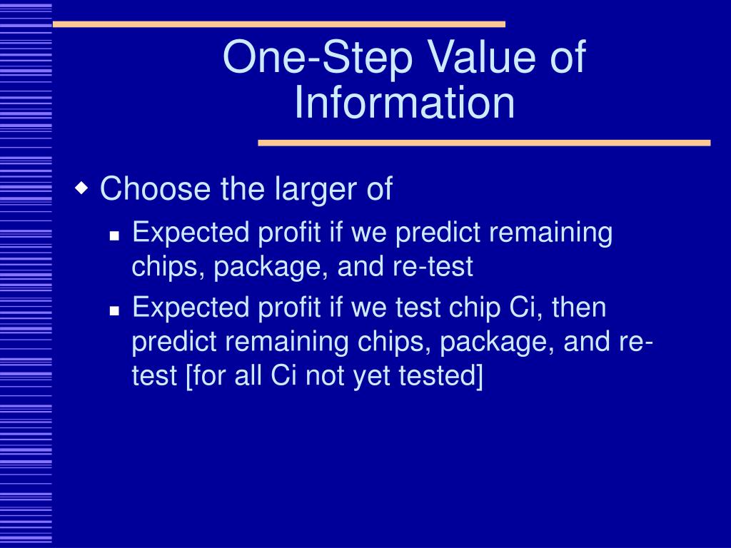 One-Step Value of Information