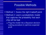 possible methods8