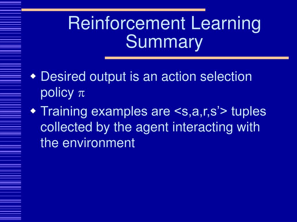 Reinforcement Learning Summary
