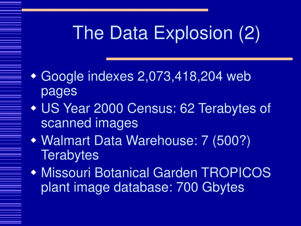 The Data Explosion (2)