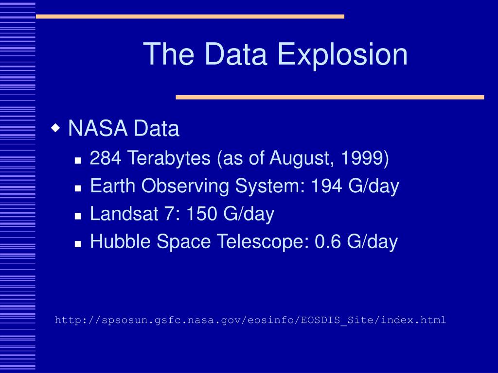 The Data Explosion