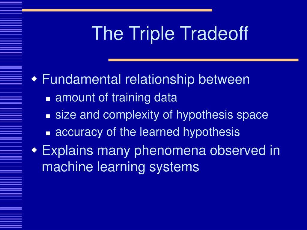 The Triple Tradeoff
