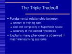 the triple tradeoff