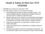 health safety at work act 1974 hasawa5