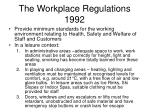 the workplace regulations 1992