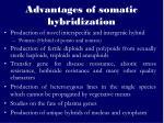 advantages of somatic hybridization