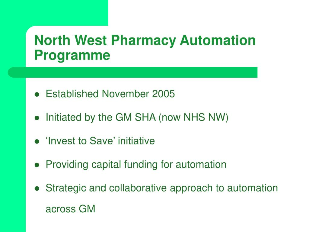North West Pharmacy Automation Programme