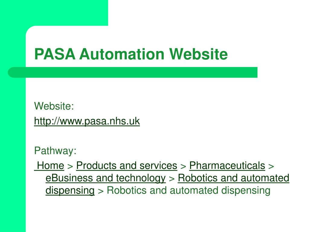 PASA Automation Website