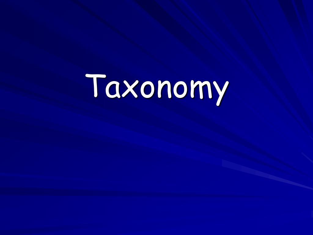 taxonomy l.