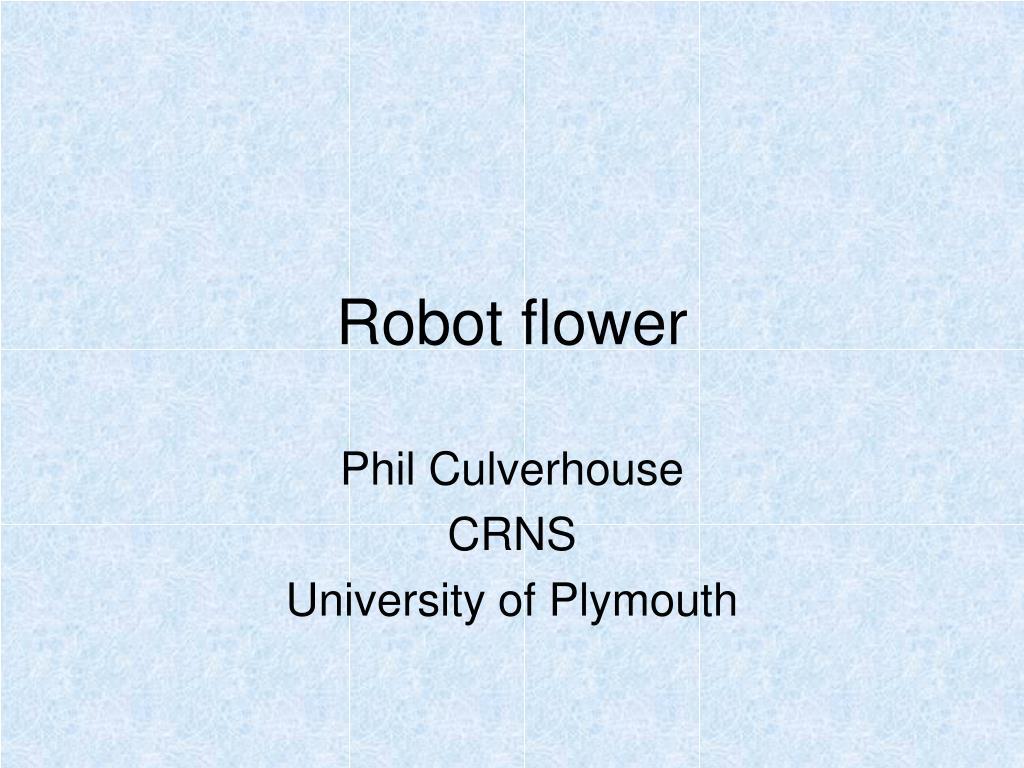 robot flower l.