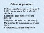 school applications