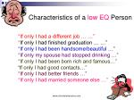 characteristics of a low eq person
