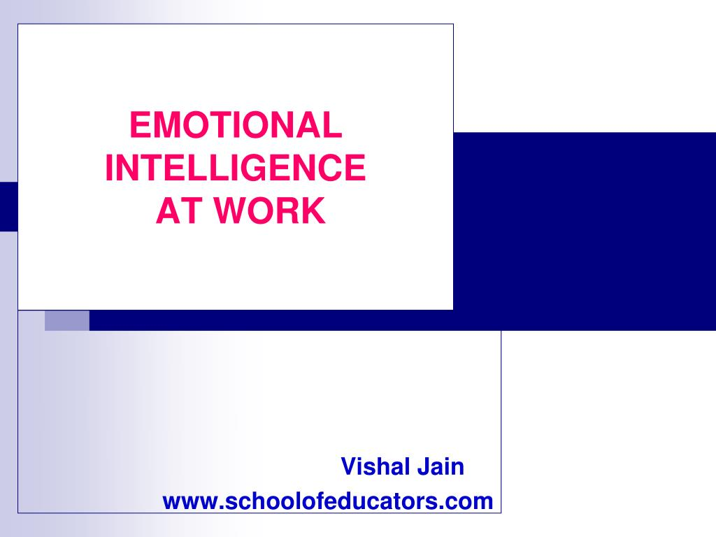 emotional intelligence at work l.