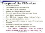 examples of use of emotions