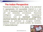 the indian perspective